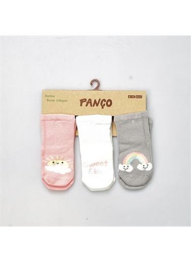 Panço PanÇo 19136093108 Renk Çeşitli Kız Bebek 3'lü Çorap Renksiz